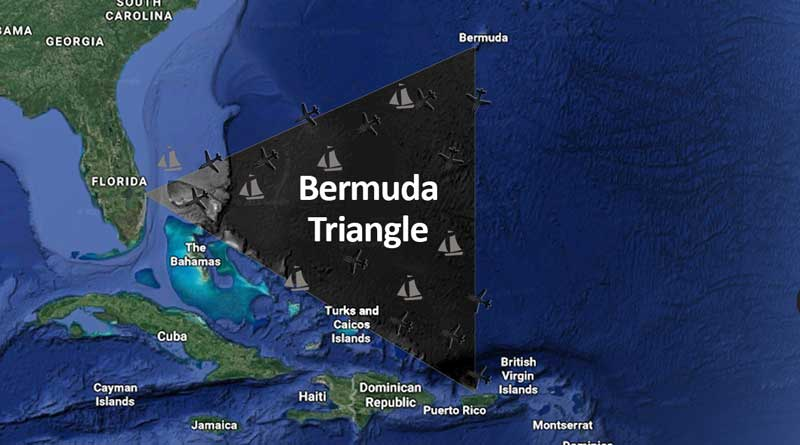 Bermuda Triangle in map