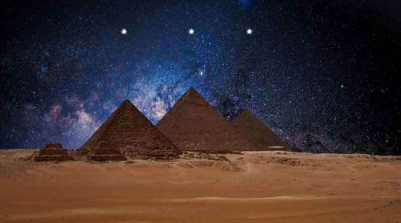 Pyramids and Orion belt